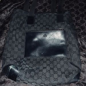 Black Gucci tote bag